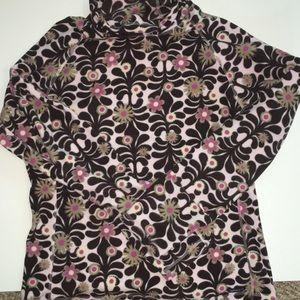 Athleta Floral Fleece Pullover